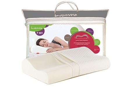 Ортопедическая подушка с эффектом памяти 35х56 см LumF-501 CO-04, ООО «Экотен»