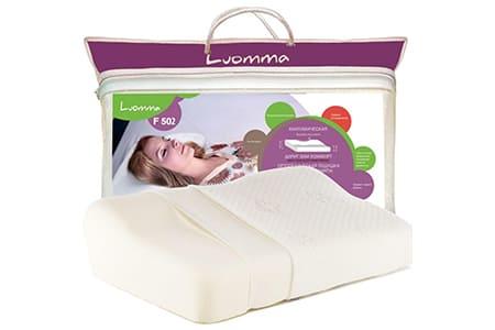 Подушка с эффектом памяти и выемкой под плечо, валики 12 и 6 см LumF-502, ООО «Экотен»
